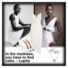 """""""In the madness, you have to find calm.-Lupita Nyong'o"""" by majezy ❤ liked on Polyvore featuring Zimmermann, Gianvito Rossi and Glitzy Rocks"""