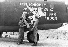 "Nose Art of the Southwest Pacific Area - ""Ten Knights in a Bar Room"" - B24D, 90th Bomb Group, 321st Squadron - Serial #42-72806 - PH00005472 Frederick German Collection"