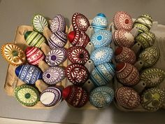 Eastern Eggs, Ornaments, Crochet, Crochet Hooks, Crocheting, Christmas Decorations, Embellishments, Thread Crochet, Ornament