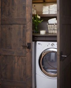 Laundry Room Solutions Storage Shelves Ideas Laundry room decor Small laundry room organization Laundry closet ideas Laundry room storage Stackable washer dryer laundry room Small laundry room makeover A Budget Sink Load Clothes Laundry Room Storage, Laundry Room Design, Ikea Laundry, Hidden Laundry, Basement Laundry, Laundry Decor, Small Laundry Closet, Laundry Room Doors, Laundry Shelves