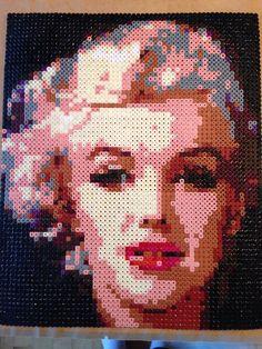 Marilyn Monroe portrait hama perler beads by margarmrt on deviantART