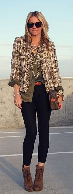 Upscale Tweed Style #military or #army #green