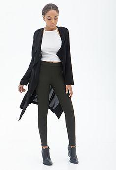 Black Ribbed Knit Leggings Pants | FOREVER21 - 2000084985 $20