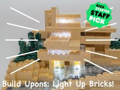 Luminous LEGO Bricks - The LEGO Compatible Bricks from 'Build-Upons' Contain Tiny LED Lights (GALLERY)