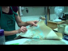 ▶ Susan Feagin: Screen printing and Sluthing on clay - YouTube