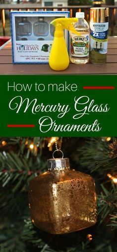 How to Make Mercury Glass Ornaments an easy DIY tutorial with spray paint and vinegar. Perfect decor crafts project to complete your Christmas tree on budget. christmas gift ideas to make Christmas Ornaments To Make, Christmas Balls, Homemade Christmas, Christmas Projects, Decor Crafts, Holiday Crafts, Vintage Christmas, Christmas Holidays, Christmas Decorations