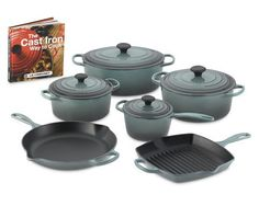 Le Creuset Ocean. I want these in my kitchen!!!!!!!!!
