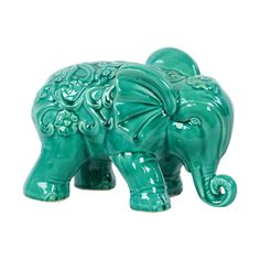 Turquoise Ceramic Elephant   Overstock.com Shopping - Great Deals on Urban Trends Collection Accent Pieces