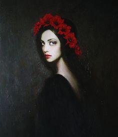 """Ivanna"" oil painting by Taras Loboda"