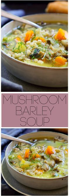 This vegan mushroom barley soup is easy to make, deliciously simple and flavourful. All you'll need is a couple of root vegetables, your choice of mushroom, barley and dill for this hearty and comforting vegetarian soup!
