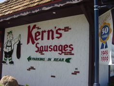 Kern Sausages' celebrates over 55 years of business in Frankenmuth ... my dad LOVED coming here and buying summer sausages ....