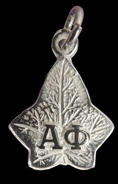 Alpha Phi Sterling Silver Greek Letter Ivy Charm