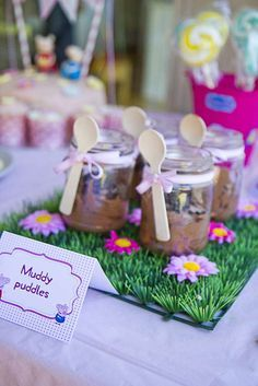 peppa-pig-birthday-party-ideas-muddy-puddles-in-jars