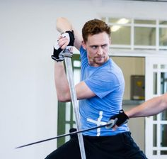 Tom at Coriolanus rehearsals. Oh mercy me. >>> Can this guy get any sexier. Really. If he can just shoot me now because it'll be less painful!