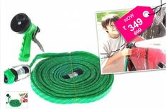 Water Spray Gun 10 Meter Hose Pipe- House, Garden & Car Wash + Free Shipping... Durable Gun Water Spray is ideal for garden watering and vehicle cleaning, etc now only Rs.349