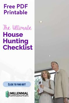 Buying a Home for the First time? Take your house hunting up a notch with this free house hunting checklist. It's a free PDF printable that you can use to compare and  houses as you get ready to buy your first home.