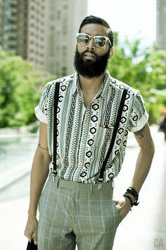 Cool beard, well dressed. #fashion