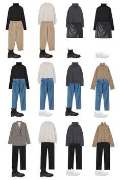 Fall Capsule Wardrobe, Capsule Outfits, Fashion Capsule, Mode Outfits, Minimal Wardrobe, Minimal Outfit, Minimal Fashion, Winter Fashion Outfits, Look Fashion