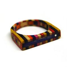 Haight Ring Vibrant now featured on Fab. Made from recycled skateboards!!