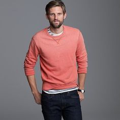 I own a sweatshirt like this, but I'm wanting this one from J. Crew in Lodge Orange.