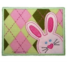 Bunny Frame Applique - 3 Sizes!   Easter   Machine Embroidery Designs   SWAKembroidery.com Applique Time