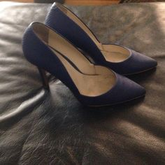 Blue Pumps! Good condition.  Blue pumps.  Small peeling on heel and toe. ALDO Shoes Heels