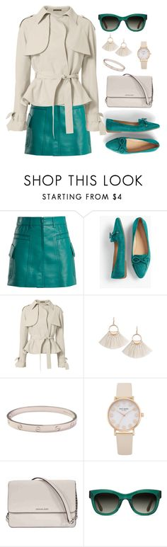 """""""Untitled #2210"""" by ebramos ❤ liked on Polyvore featuring Prada, Talbots, Exclusive for Intermix, Cartier, Michael Kors and TOMS"""