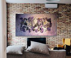 Large Original Abstract painting acrylic and enamel Unique Words, Enamel Paint, Art Auction, Different Colors, Original Art, Abstract Art, Tapestry, The Originals, Canvas