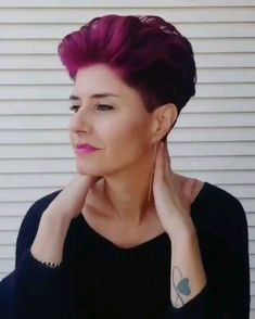 Short Hairstyles Short Hairstyles – Short Haircuts – Pixie Hair - Station Of Colored Hairs Undercut Hairstyles, Pixie Hairstyles, Short Hairstyles For Women, Straight Hairstyles, Short Grey Hair, Short Straight Hair, Short Hair Cuts, Ugly Hair, Short Hair Trends