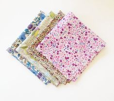 Purple Liberty of London Print Pocket Square by staghandmade