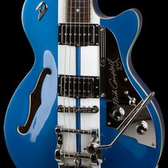 The awesome Mike Campbell signature from Duesenberg Guitars. Guitar Shop, Cool Guitar, Blue Guitar, Mike Campbell, Beautiful Guitars, Guitar Design, Electric Blue, Musical Instruments, Rock And Roll