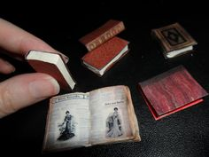 Miniature Books by kayanah.deviantart.com on @deviantART
