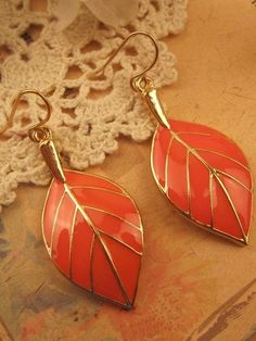 To find out about the Orange Leaves Gold Dangle Earrings at SHEIN, part of our latest Earrings ready to shop online today! Leaf Earrings, Dangle Earrings, Orange Color Palettes, Orange Leaf, Leaf Jewelry, My Favorite Color, Girly Things, Jewelery, Dangles
