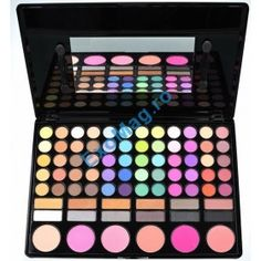 Professional 78 Color 60 Eyeshadow 12 Shade 6 Blush Blusher Makeup Palette 01 *** Check this awesome product by going to the link at the image. Eyeshadow Base, Eyeshadow Brushes, Eyeshadow Makeup, Eyeliner, Bh Cosmetics, Makeup Palette, Eyeshadow Palette, Maybelline, Maquillaje