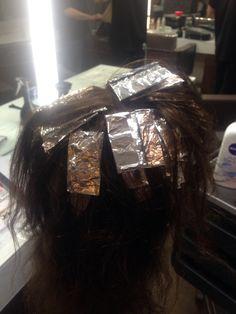 11/11/2015- done half a head of highlights on my head block.