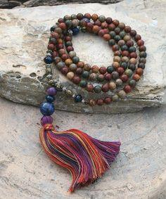Beautiful jasper gemstone mala necklace / wrist mala bracelet by look4treasures on Etsy https://www.etsy.com/listing/254681829/beautiful-jasper-gemstone-mala-necklace