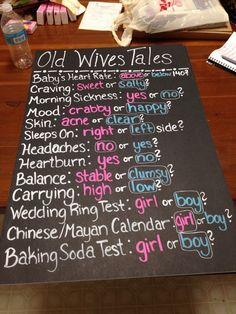 Gender Reveal Party Old Wives Tales