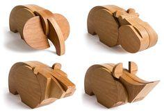 Bichos de madeira para montar                                                                                                                                                      Mais