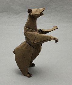 #origami art, bear