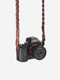 Braided Leather Camera Strap