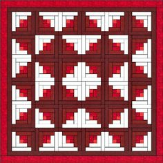 LOG CABIN quilt with the pattern that I want to make