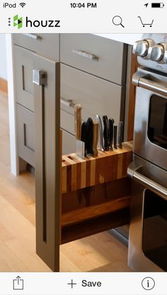 Ingenious knife drawer