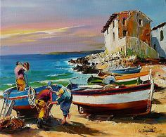 Presentation in the form of a slideshow of the work of the Marseilles painter Christian Jequel : Painter of seascape Paintings I Love, Colorful Paintings, Original Paintings, Afrique Art, Sailboat Art, Art Gallery, Boat Painting, Guache, Z Arts