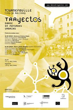 Material gráfico Trayectos 2009 Tournefeuille.  Diseño: Miguel Iguacen.