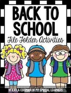 Get ready for Back to School with these adorable file folder activities for students with special needs!