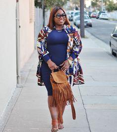 Navy Baby | OOTD | Fashion Blogger | fashionista | style | woc fashion blogger | fringe bag | bgki | black girl magic | curvy blogger