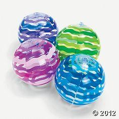 Inflatable Striped Mini Beach Balls