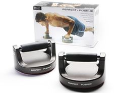 These pushup handles facilitate smooth arm rotation so you won't wuss out because your hands hurt, and actually engage more muscles than the average pushup so you get more rip for your push. The most useful made-for-TV investment you'll ever make. ($39.95, store.perfectpushup.com)   - Esquire.com