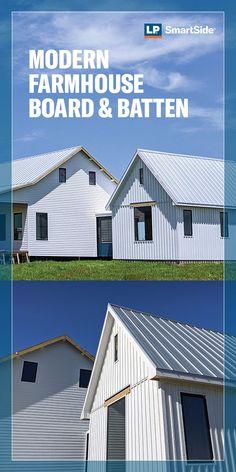 Modern Farmhouse Exterior, Farmhouse Plans, Farmhouse Design, Farmhouse Style, Latte, Metal Building Homes, Building A House, Pole Barn Homes, House Siding