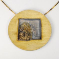 """Necklace, 18k and 24k Gold with Sterling Silver, 19.5"""" long, Pendant is 3"""" in diameter. As seen in #metalsmith magazine."""